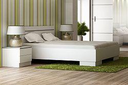 NajlacnejsiNabytok VISTA manželská posteľ 160, biela