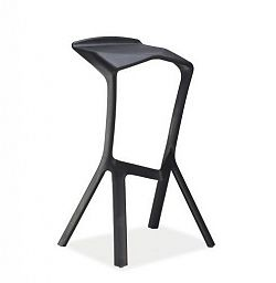 NajlacnejsiNabytok VOLT barová stolička, čierna