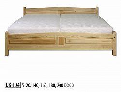 Pohodlná manželská posteľ Sesil z masívu