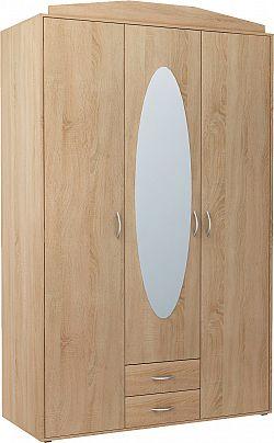Skriňa GREACE so zrkadlom, dub sonoma