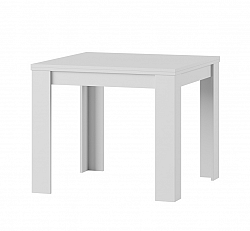Štvorcový jedálenský stôl s rozkladom SATURN 40, biela