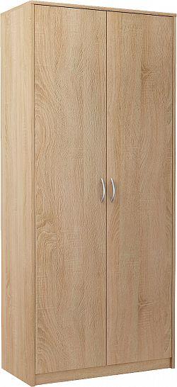 VIKA 2D 2-dverová skriňa s vešiakovou tyčou, dub sonoma