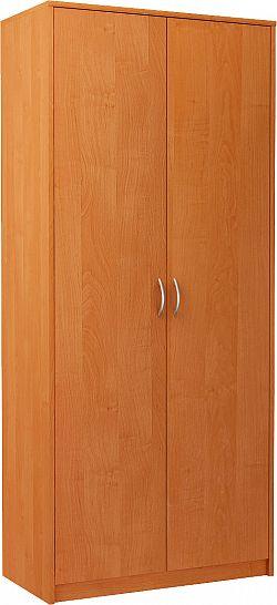 VIKA 2D 2-dverová skriňa s vešiakovou tyčou, jelša