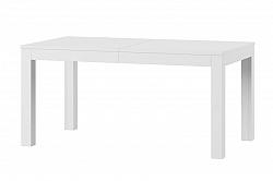 WENUS veľký jedálenský stôl rozkladací, biela matná