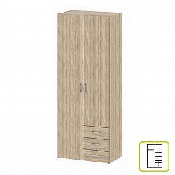 Skriňa, 2 - dverová, dub sonoma, GWEN 70425