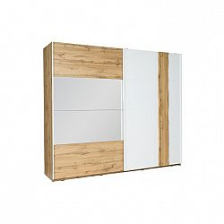 2-dverová skriňa, dub wotan/biela, VODENA 200