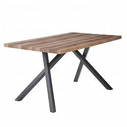 Jedálenský stôl, svetlá slivka/čierna, GURDUN