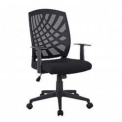 Kancelárske kreslo, čierna, VIDAL