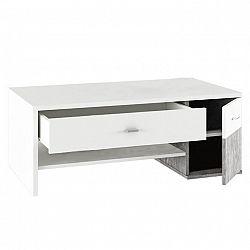 Konferenčný stolík, biela/betón, DILANO