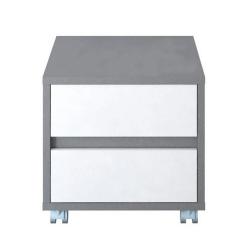 Kontajner, sivá grafit/biela, MARSIE M7