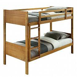 Poschodová posteľ, masívne drevo, dub, MAKIRA