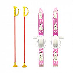 Baby Ski 70 cm - detské plastové lyže - ružové