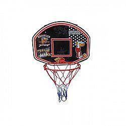 Basketbalový kôš s doskou SPARTAN 60 x 44 cm s loptou