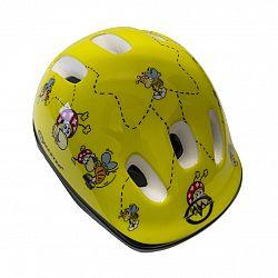 Cyklo prilba MASTER Flip - M - žltá