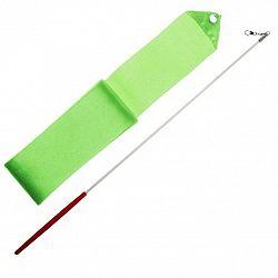 Gymnastická stuha 3m + tyčka junior - sv. zelená