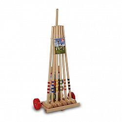 Kroket LUCIO LONDERO pre 6 hráčov - drevený vozík