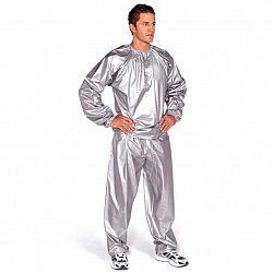 Sauna oblek EVERLAST PVC strieborný - veľ. L-XL