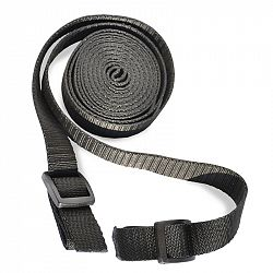 Ťažný popruh na ťahanie saní a bobov - 3 metre - čierny