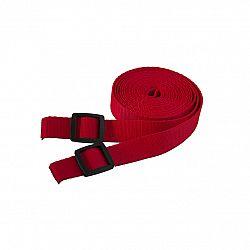 Ťažný popruh na ťahanie saní a bodov - 3 metre - červený