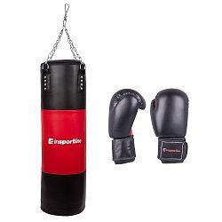 Plniace boxovacie vrece inSPORTline 50-100kg s boxerskými rukavicami