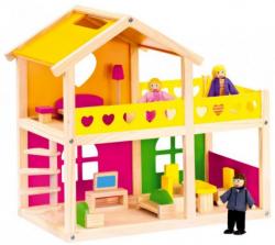 Bino Drevený domček pre bábiky so zariadením 83553