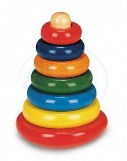 Bino Skladacia pyramída farebná 81034
