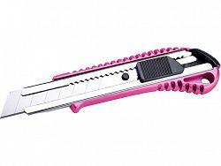 EXTOL 80059 Nôž univerzálny olamovací, 18mm, ružová metalická farba