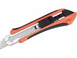EXTOL 8855023 Nôž univerzálny olamovací, 18mm, kov/plast, pogumovaný, autostop a aretačná skrutka, 3x CK75 brit