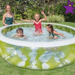 Intex Nafukovací kruhový priehladný bazén 57182