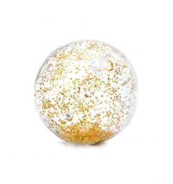 Intex nafukovacia lopta transparentná s flitrami zlatá 58070