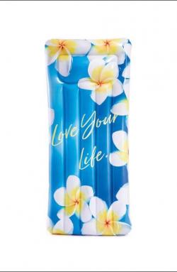 Intex nafukovacie lehátko Inspiration modré kvety 58772