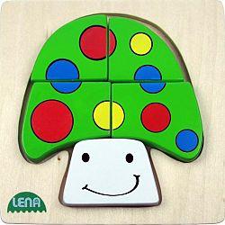 Lena Drevené puzzle Hríb - FSC 32138
