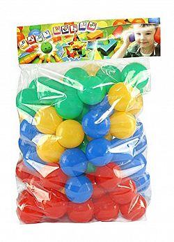 MIKRO -  Loptičky do hracích kútov a bazénov 7cm 80ks 27335