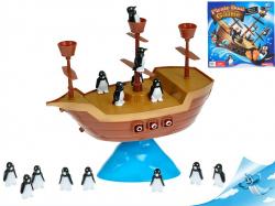 MIKRO -  Pirátska loď s balancujúcimi tučňiakmi v krabičke 97386
