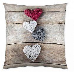 Vankúš 45x45 Hearts on Wood