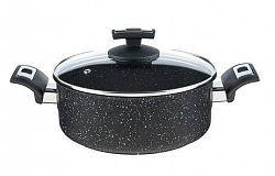 Kolimax Rajnica BLACK GRANITEC s pokrievkou, priemer 22cm, objem 3.0l