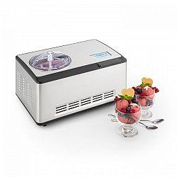Klarstein Dolce Bacio, zariadenie na výrobu zmrzliny , kompresor, 2 l, LCD displej, dotykový panel, ušľachtilá oceľ