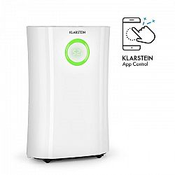 Klarstein DryFy Pro Connect, odvlhčovač vzduchu, WiFi, kompresia, 20 l/d, 20 m², 370 W, biely