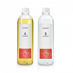 Klarstein GrowIt Nutri Kit 300, živný roztok, príslušenstvo, 2 x 300 ml