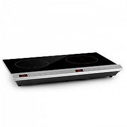 Klarstein MisterCook Duo, varná platňa, infračervená, 3000W, 90-650°C, časovač vypnutia, strieborná