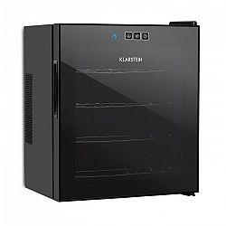 Klarstein Vinarium vinotéka, 14 l 4 fľaše, dotyková, 38 dB, sklené dvere, čierna farba