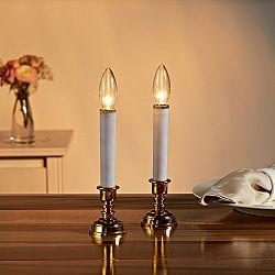 Magnet 3Pagen 1 LED sviečka so stojančekom , zlatistá