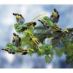 Magnet 3Pagen 4 dekoratívne vtáčiky zlatá farba