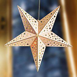 Magnet 3Pagen Vianočná LED drevená hviezda