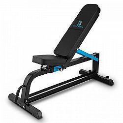 Capital Sports Ad Just, čierna, 300 kg, lavička na činky, prispôsobiteľná rovná lavička, oceľ