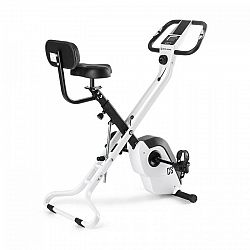 Capital Sports Azura X2 X-Bike, bicykel, do 120 kg, merač tepu, sklápací, 4 kg, biely