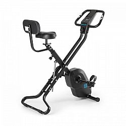 Capital Sports Azura X2 X-Bike, bicykel, do 120 kg, merač tepu, sklápací, 4 kg, čierny