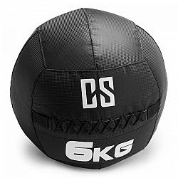 Capital Sports Bravor Wall Ball medicinbal PVC dvojité švy 6kg čierna farba