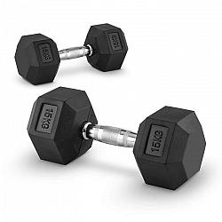 Capital Sports Hexbell 15, 15kg, dvojica krátkoručných činiek (dumbbell)