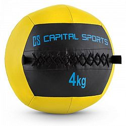 Capital Sports Wallba 4, žltý, 4 kg, wall ball, syntetická koža
